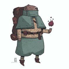 a marmot man: dnd commission - - - #dnd #illustration #fantasy #marmot #characterdesign #roleplay #tabletop #drawingoftheday #costumedesign #art #conceptart #comics