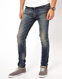 Nudie Jeans High Kai Skinny Fit Grey Stone Wash