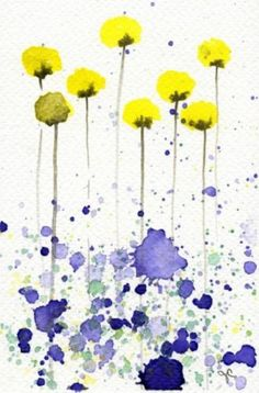 blue & yellow watercolor