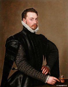 Anthonis Mor van Dashorst, also called: Antonio Moro (1519-1575) - Portrait of a man, 1565. Musée du Louvre, Paris.