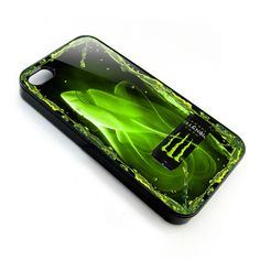 monster energy logo with shark apple iphone 4 4s case