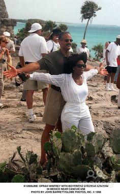 Oprah Winfrey and Stedman Graham in Mexico Near Cancun 04/1998