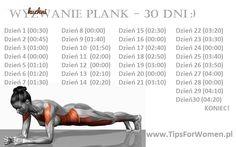 Wyzwanie plank - 30 dni!!!