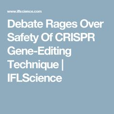 Debate Rages Over Safety Of CRISPR Gene-Editing Technique | IFLScience