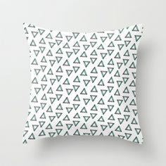 Triangles Throw Pillow by JoanaRosaC - $20.00