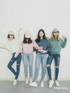 Korean Fashion Similar Look - Fashion Outfits Korean Fashion Trends, Korean Street Fashion, Korea Fashion, Asian Fashion, Trendy Fashion, Fashion Ideas, Korean Fashion Pastel, Style Fashion, Korean Spring Fashion