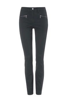 Khaki Zip Pocket Trousers - Wallis