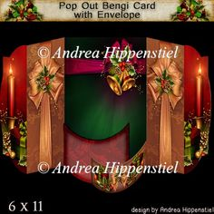 Pop Out Bengi Card Christmas Presents - £1.40 : Instant Card Making Downloads