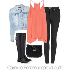 Caroline Forbes inspired outfit/ The Vampire Diaries by tvdsarahmichele on Polyvore featuring Chelsea Flower, Dolce&Gabbana, Topshop, Timeless and MARC BY MARC JACOBS
