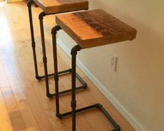 super Ideas metal and wood furniture projects bar stools Bar Furniture, Industrial Furniture, Furniture Projects, Wood Projects, Industrial Pipe, Plumbing Pipe Furniture, Reclaimed Furniture, Refinished Furniture, Industrial Farmhouse