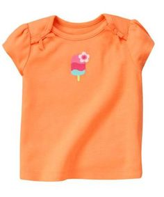 NWT Gymboree Cute On The Coast Orange Crab With Bow T-Shirt 12-18 Months