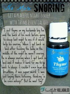 YL thyme for snoring