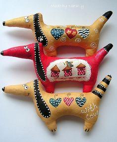 Ароматизированные куклы ручной работы. Ярмарка Мастеров - ручная работа. Купить Собачки. Влюбленные.. Handmade. Собачка, подвеска, собака