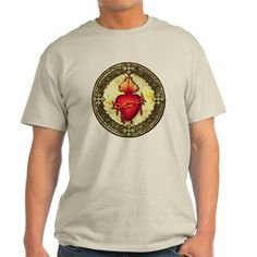 Sacred Heart (fancy) T-Shirt on CafePress.com