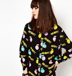 Цена: 540 грн. - Крутейшое платье рубашка lazy oaf  мегааа комикс oh boy известное эксклюзив  Цвета: Чёрный, Жёлтый. Купить в Шафа. Недорогие, но качественные товары по доступной цене!