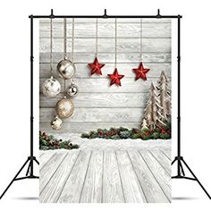 GoodsFederation Christmas Photo Backdrop Christmas Balls Stars White Wood Floor Photography Background for Christmas Photo Booth Customized Photo Backdrops Studio Props Christmas Background Photography, Christmas Photography Backdrops, Christmas Backdrops, Christmas Themes, Photo Backdrops, Photo Props, Holiday Photography, Christmas Brunch, Christmas Pictures