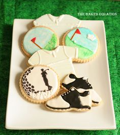 Golf Themed Cookies and Recipes | cookies detailed bakers kitchen theme intricate new years themed ...