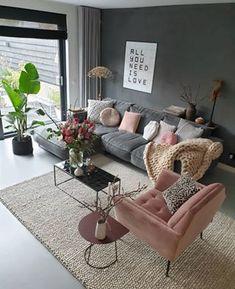 Interior Decor Ideen für Wohnzimmer – New Ideas - New ideas Comfortable Living Rooms, Small Living Rooms, Living Room Sofa, Living Room Designs, Living Room Decor, Tv Wall Decor, Diy Room Decor, Home Decor, Interior Desing