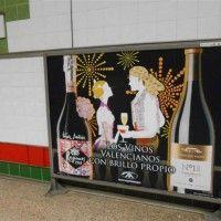 Publicidad metro Valencia - Vinos Venta del Puerto + Reymos (fallas 2014)