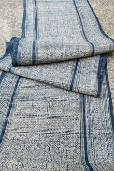 Your place to buy and sell all things handmade Hemp Fabric, Fabric Art, Chinese Fabric, Textile Products, Ahs, Loom, Indigo, Blues, Hand Weaving