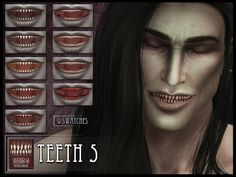 The Sims Resource: Monster Teeth 5 by RemusSirion • Sims 4 Downloads