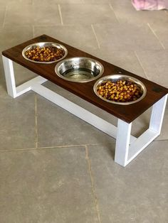 Your place to buy and sell all things handmade Dog Food Bowls, Pet Bowls, Pet Food Storage, Personalized Dog Tags, Japanese Home Decor, Cat Stands, Miniature Dogs, Dog Feeder, Medium Sized Dogs