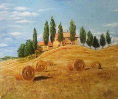 Original Landscape Painting by Irina Sekacheva Watercolor Scenery, Watercolor Landscape Paintings, Impressionist Paintings, Impressionism Art, Landscape Sketch, Spring Landscape, Beach Landscape, City Landscape, Tuscany Landscape