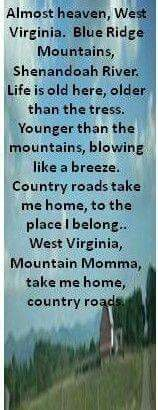 John Denver - Take Me Home, Country Roads - 1971 Album=Poems, Prayers and Promises Song Lyrics Beste Songs, Shenandoah River, Take Me Home, West Virginia, West Va, Lyric Quotes, Music Lyrics, Country Music, My Love