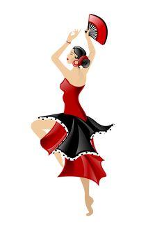 Cartoon flamenco dancer