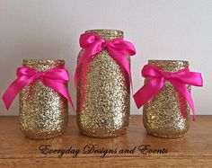 56 trendy baby shower decorations for girls gold mason jars Pink And Gold Decorations, Pink Centerpieces, Bridal Shower Centerpieces, Mason Jar Centerpieces, Birthday Centerpieces, Centerpiece Wedding, Centerpiece Ideas, Pink Mason Jars, Glitter Mason Jars