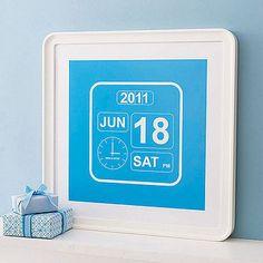 custom birth date/time art