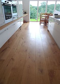 Architect designed country house. The clients chose the Chauncey's extra-wide Tectonic Oak flooring.