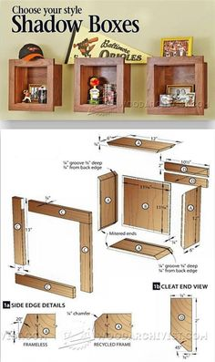 Woodworking with easy wood projects plans is a great hobby but we show you how to get started with the best woodworking plans to save you stress & cash on your woodworking projects Woodworking Furniture Plans, Woodworking Projects That Sell, Woodworking Wood, Mike Shadow, Shadow Box, Small Wood Projects, Up House, Diy Holz, Wood Creations