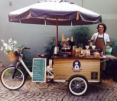 Food Truck, Hora Do Café, Ice Cream Cart, Coffee Truck, Coffee Carts, Bike Coffee, Tricycle, Street Food, Mobile Food Cart