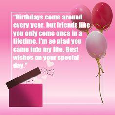 Birthday Wishes for Best Friend Best Birthday Wishes Messages, Birthday Wishes Cake, Happy Birthday Flower, Birthday Quotes, Special Day, Best Friends, Birthdays, Joy, Blessing