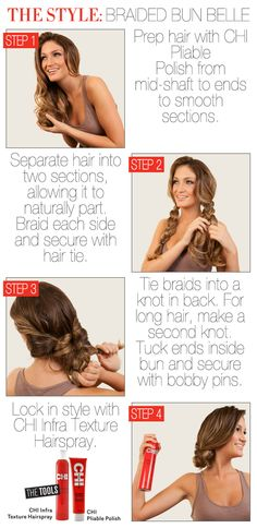Hair How To: The Braided Bun Belle (click for video)