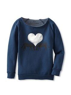 50% OFF Mini Fashionista Girl's Zebra Sweatshirt (Navy)