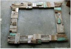 Driftwood frame, great idea for a mirror