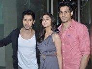 Varun Dhavan, Alia Bhatt and Sidharth Malhotra from Student  Of The Year