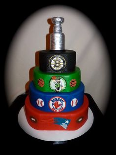 Boston Sports Cake New England Strong Themed Cakes