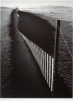 Sand Fence, Keeler, California Ansel Easton Adams  (American, San Francisco, California 1902–1984 Carmel, California)  ca. 1948, printed 1974 Gelatin silver print