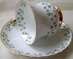 Royal Tara china is famous for its delicate scattering of tiny shamrocks.
