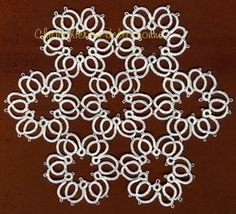 Tatting grandmother's Center of rosettes One of these would make a great pendant! Shuttle Tatting Patterns, Needle Tatting Patterns, Crochet Patterns, Crochet Doilies, Knit Crochet, Tatting Tutorial, Tatting Lace, Silk Ribbon Embroidery, Lace Making