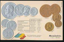 Romänien  Ramania  Ansichtskarte  Prägekarte  Münzen   Silber + Gold   Bani