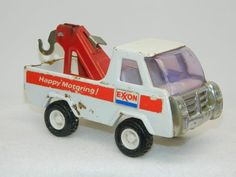 EXON FUEL Truck Vintage Diecast BUDDY L Tow Truck Pressed Metal Fuel gas Oil