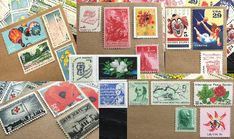 Custom vintage stamp arrangement designed and hand selected by an etsy artist for wedding invites.