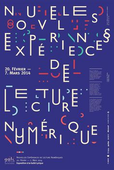 Nouvelles Expériences, poster submitted and designed by Scott Renau (2013) –Type OnlyUnit Editions