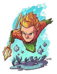 Chibi Aquaman by Derek Laufman Chibi Marvel, Marvel Art, Marvel Dc Comics, Chibi Superhero, Aquaman, Character Drawing, Comic Character, Character Design, Comic Books Art