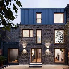 This project, a Victorian brick house in Islington, comprises of a side and roof extension, as well as extensive internal refurbishment. Elfort Road House has been transformed from dark and cluttered into light and spacious. Brick Siding, Brick Facade, Roof Extension, London House, House Extensions, Modern Exterior, Exterior Design, Victorian Homes, Victorian Era