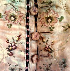 18th Century Embroidered Silk Man's Waistcoat by Jay Heritage Center, via Flickr